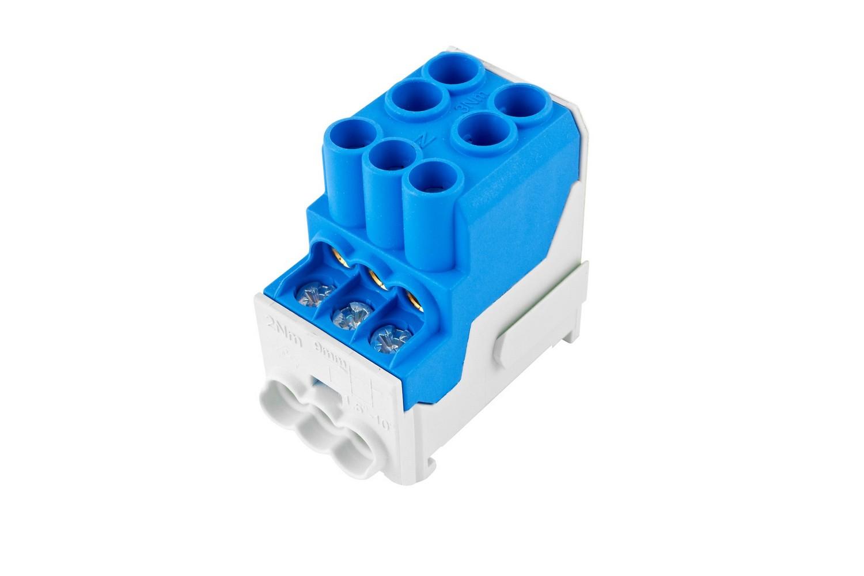 Rozváděčový blok UVB modrý, cena za ks