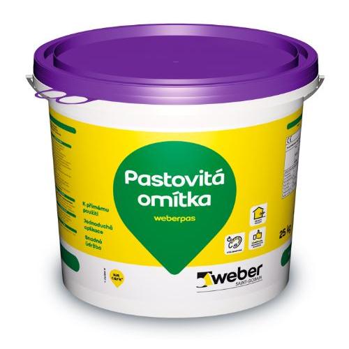 Omítka pastovitá weberpas aquaBalance zrnitá 1,0 mm bílá 25 kg