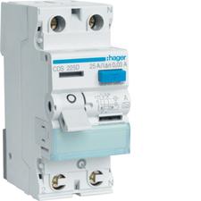 Chránič proudový bezšroubový Hager CDS225D 6 kA 2pól 25 A