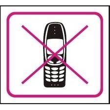 Samolepka zákazová Zákaz mobilu 110×90 mm