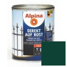 Lak na kov Alpina Direkt A Rost 2,5 l lesk zelená RAL6005