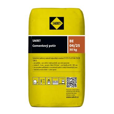 Cementový potěr Sakret BE 04/25 (30kg/bal.)