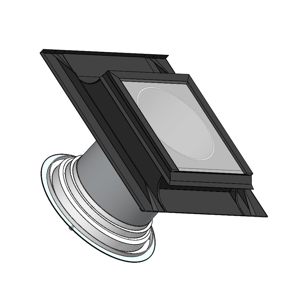 Světlovod pro šikmou střechu SUNIZER SHORT ROUND průměr 430 mm