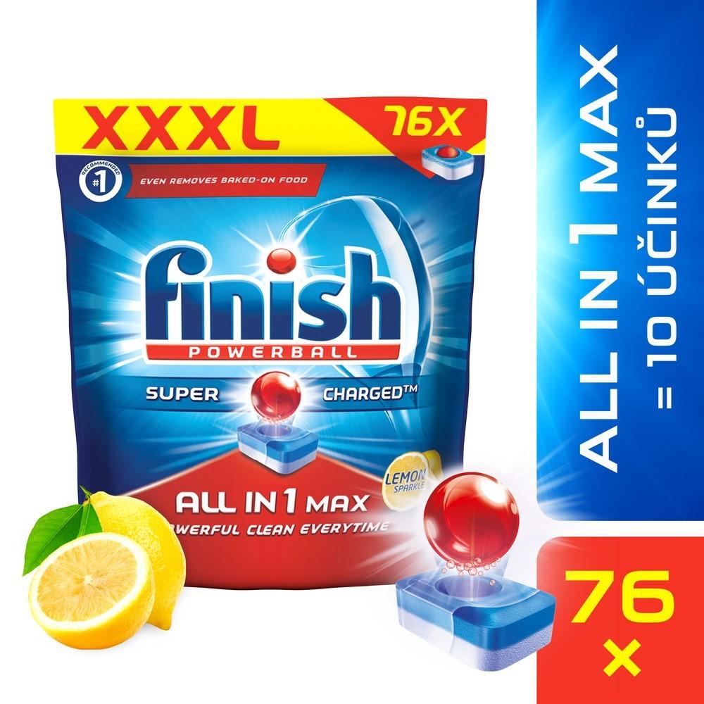 Tablety do myčky FINISH All-in-1 Max Lemon 76 ks, cena za ks