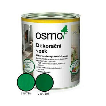 Vosk dekorační Osmo 3131 intenzivní zelený RAL 6029 0,125 l