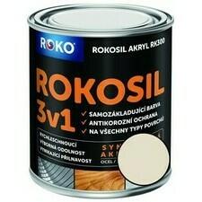 Barva samozákladující Rokosil akryl 3v1 RK 300 slon. kost 0,6 l