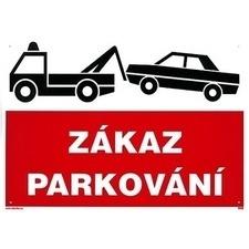 Tabule zákazová Zákaz parkování - odtah A4