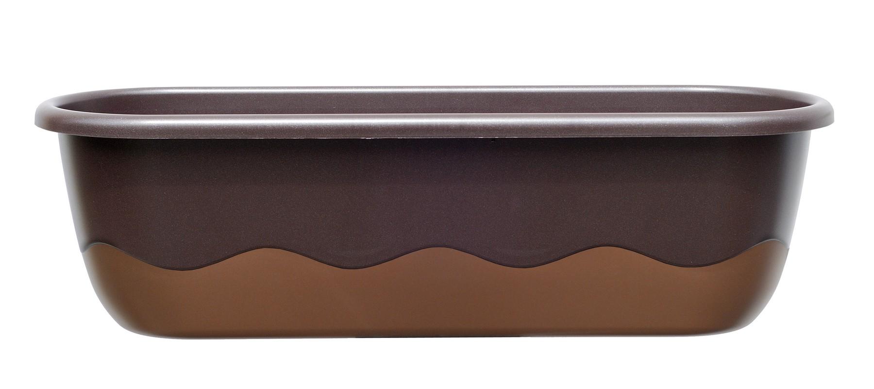 Samozavlažovací truhlík MARETA 60, čoko + bronz