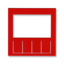 Díl výměnný pro kryt termostatu nebo hodin spínacích Levit červená
