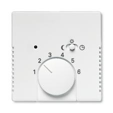 Kryt termostatu s otočným ovladačem Future linear mechová bílá