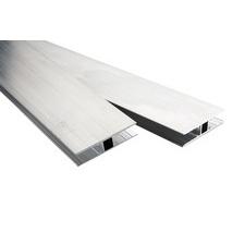 Spojovací hliníkový profil tvar H pro polykarbonátové desky 10mm, délka 6m