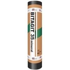 Oxidovaný asfaltový pás se skleněnou rohoží BITAGIT 35 MINERAL (role/10 m2)