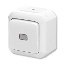 Ovládač přepínací bezšroubový IP 54 Variant bílá