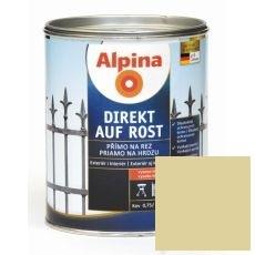 Lak na kov Alpina Direkt A Rost 2,5 l lesk slonová kost RAL1015