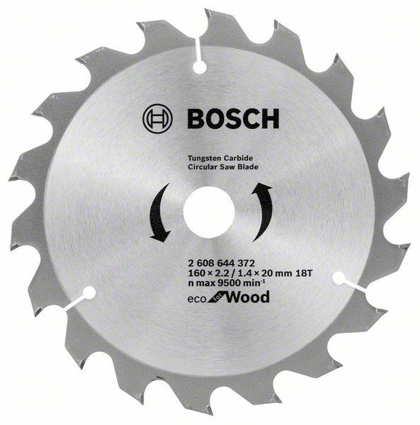 Kotouč pilový Bosch Eco for Wood 160×20/16×1,4 mm 18 z.