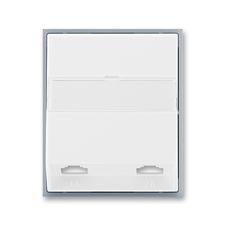 Kryt telefonní zásuvky s 2 otvory Element bílá / ledová šedá