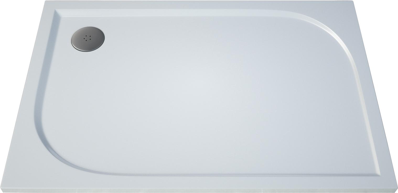 Obdélníková sprchová vanička TRACY 800×1000×30 mm, litý mramor