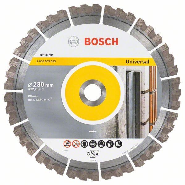 Diamantový řezný kotouč Bosch Best for Universal 230×22,23 mm
