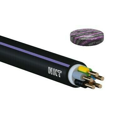 Kabel CYKY-J 5× 1,5 RE (100m/bal)