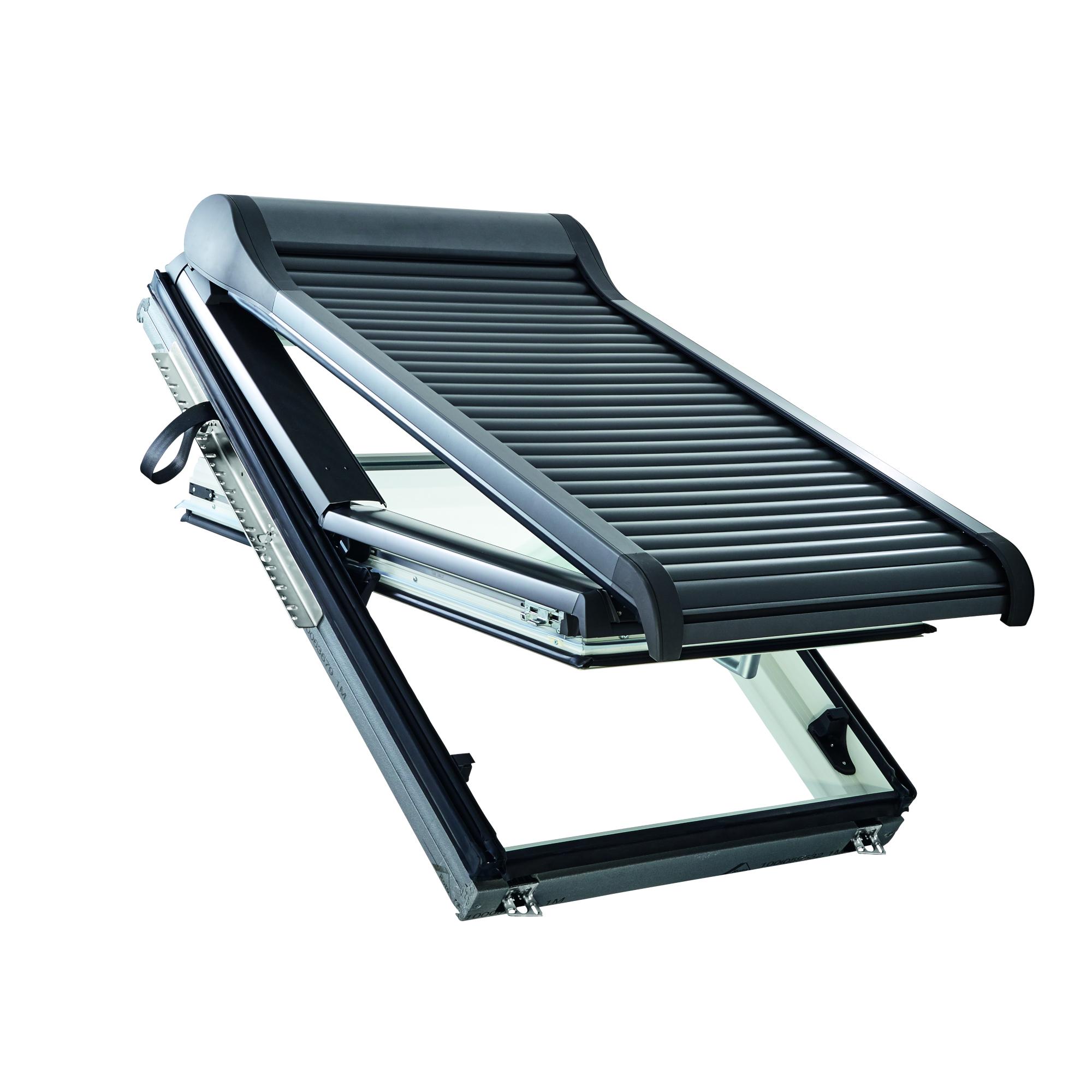 Lamelová roleta ROTO ZRO-SF solární pohon, předokenní 54×78 cm