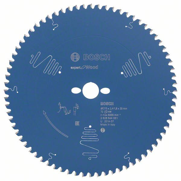 Kotouč pilový Bosch Expert for Wood 315×30×1,8 mm 72 z.
