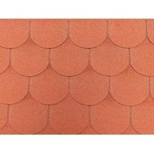 Šindel asfaltový Tegola ECO roof traditional červený 3,05 m2