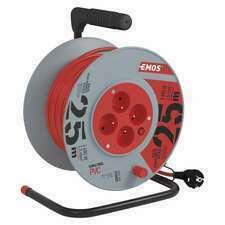 Kabel prodlužovací na bubnu Emos 25 m 1,5 mm2 IP 20