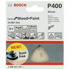 Mřížka brusná Bosch M480 Best for Wood and Paint 93×93 mm 400