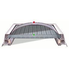 Střešní světlík kopule pevná DEKLIGHT A1/PC 25 čirá A=60x90