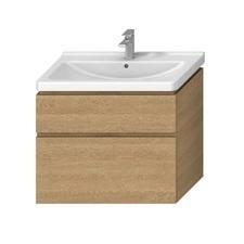 Skříňka pod umyvadlo s 2 zásuvkami Jika CUBITO PURE 85 cm, dub