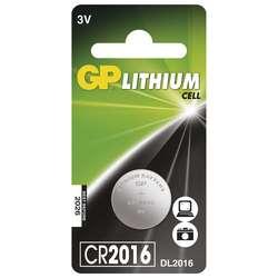 Baterie lithiová knoflíková GP CR2016 (1 ks/bal)