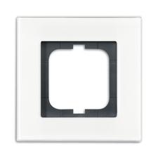 Rámeček jednonásobný Solo carat bílé sklo