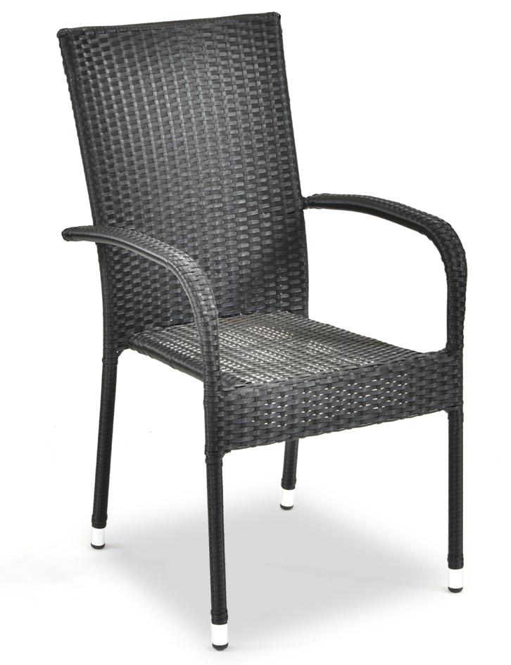 Zahradní židle ratanová PARIS antracit, cena za ks