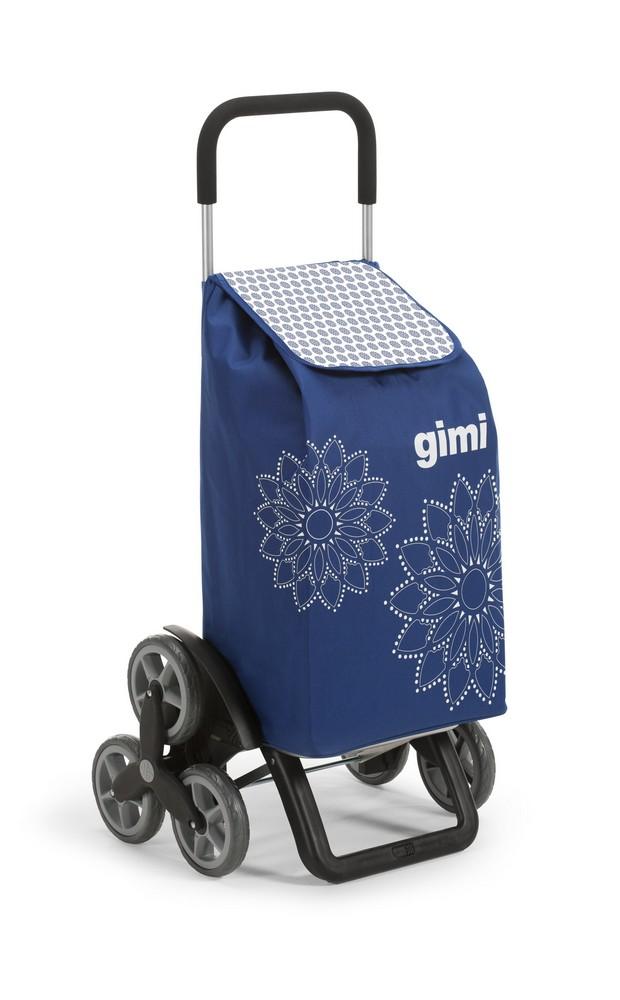 Nákupní vozík GIMI Tris Floral modrý 56 l