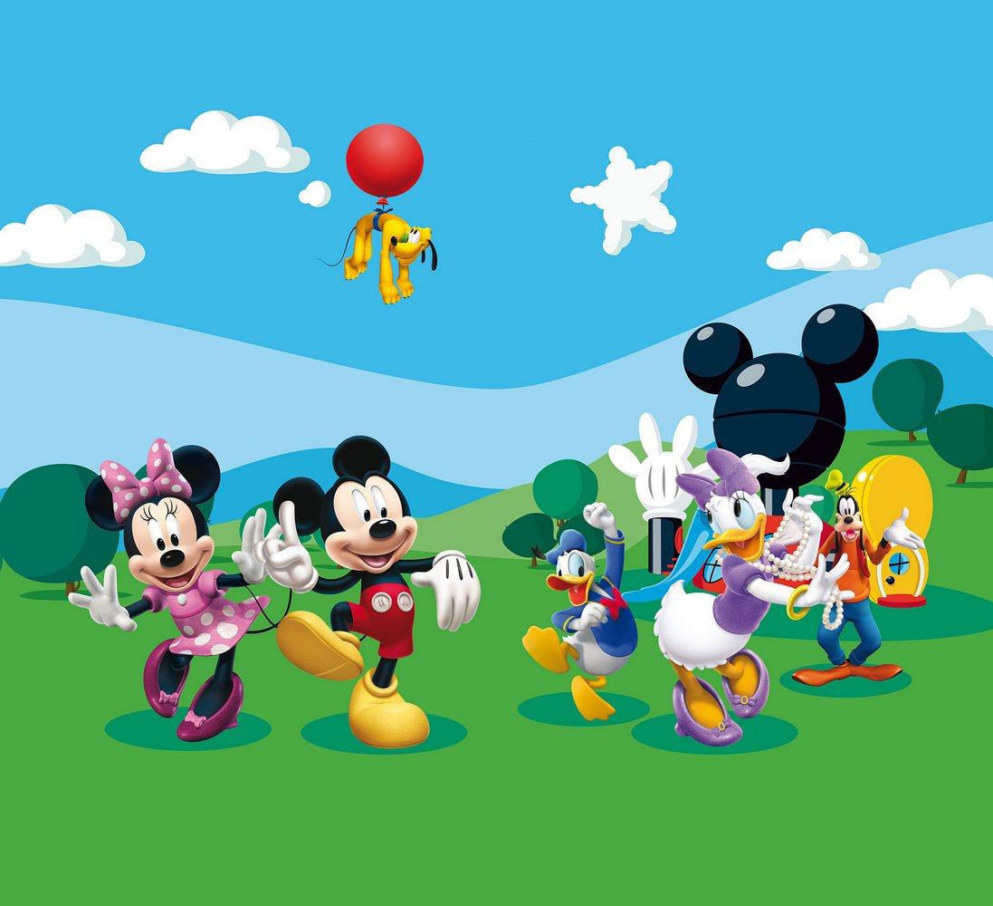 Foto závěs s motivem Mickey Mouse a přátelé, 180×160 cm, cena za ks