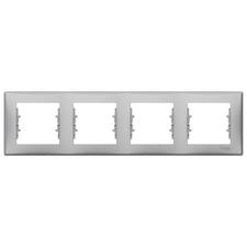 Rámeček čtyřnásobný, Sedna, aluminium