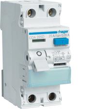 Chránič proudový Hager CDA225D 6 kA 2pól 25 A