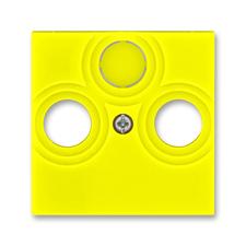Kryt zásuvky anténní TV/R/SAT Levit žlutá