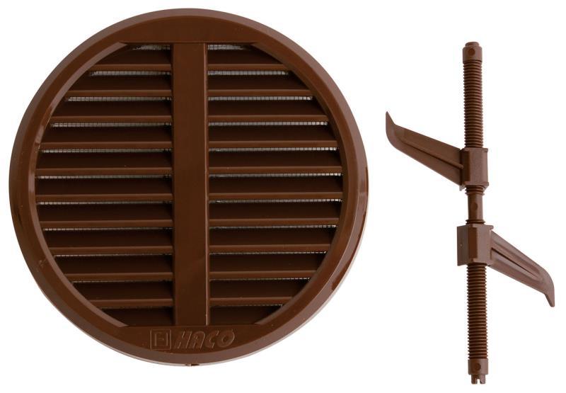 Mřížka větrací kruhová VM průměr 75-125 mm, hnedá