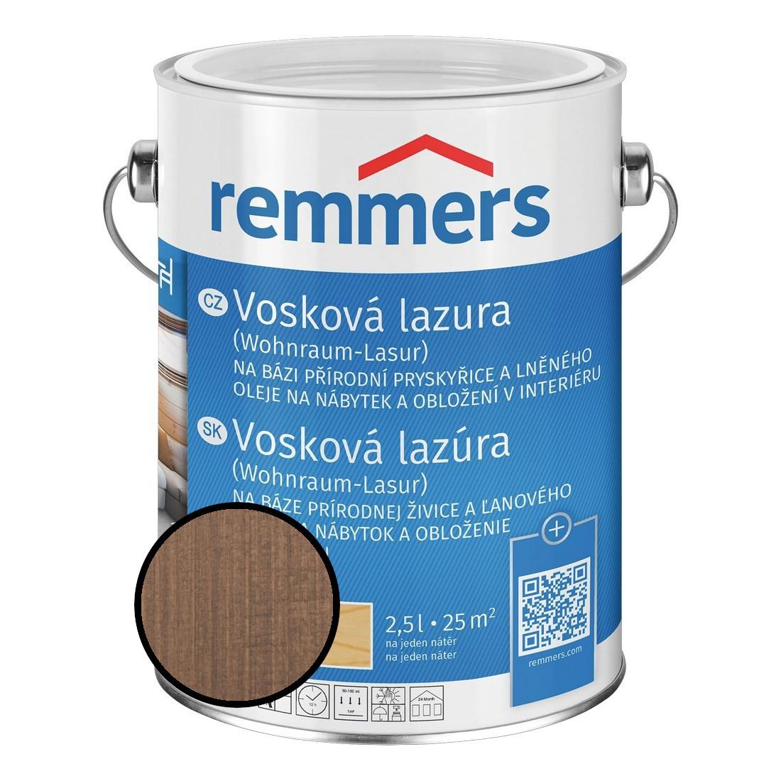 Emulze vosková Remmers Wohnraum Lasur 2308 toskán. šedá 2,5 l