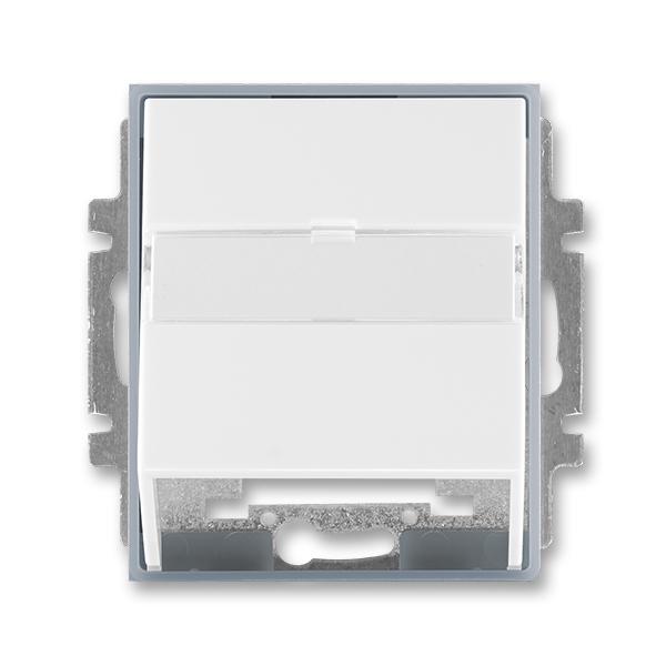 Kryt zásuvky komunikační s popisovým polem Element bílá / ledová šedá