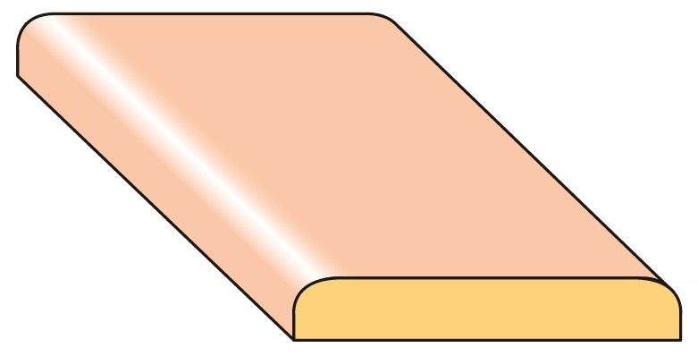 Lišta krycí K4 smrk nastavený 25×4×2000 mm, 25 ks/bal.