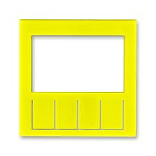 Díl výměnný pro kryt termostatu nebo hodin spínacích Levit žlutá