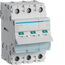 Vypínač Hager SBN340, 3pól, 40 A, 400 V