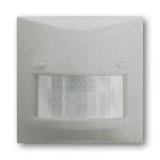 Snímač automatického spínače se selektivní čočkou Impuls saténová stříbrná