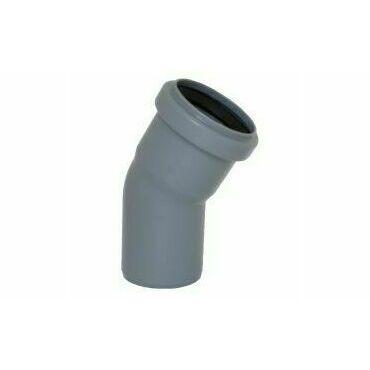 Koleno s hrdlem HTB pro odpadní potrubí, DN 40, úhel 30°