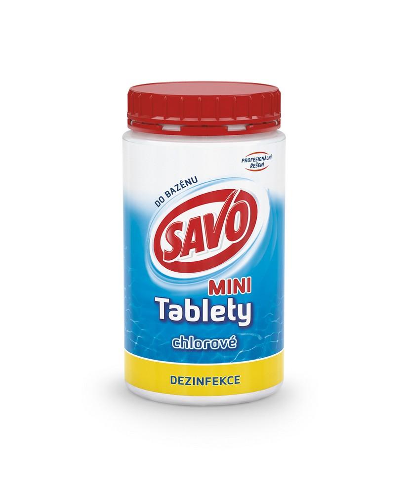 SAVO chlorové tablety mini 0,9 kg, cena za ks