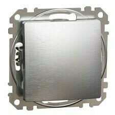 Spínač jednopólový Schneider Sedna Design řazení 1 hliník leštěný
