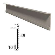 Zařezávací lišta  z poplastovaného plechu Viplanyl r.š. 70 mm