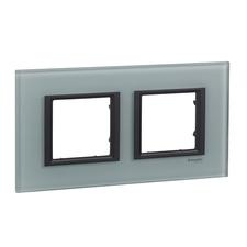 Rámeček dvojnásobný, Unica Class, grey glass